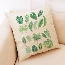 Home Decor Cushion Cover Big Leaf Tropical Plants Throw Pillowcase Pillow Covers 6 Leaves