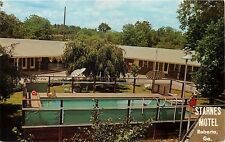 Starnes Motel Restaurant Roberto Georgia GA Mr Mrs Starnes Postcard