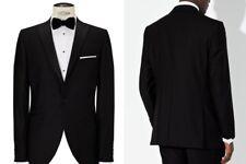 JOHN LEWIS Men's Black Shawl Lapel Dress Suit Jacket UK Size 42L £150 BNWT