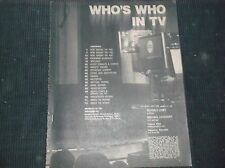 Vintage CELEBRITY Magazine WHO'S WHO IN TV 1971-72/RARE TIME CAPSULE!!Every Show