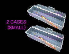 2 x Small Empty Storage Case Brush Nail Utlility Box Single Compartment 70052D