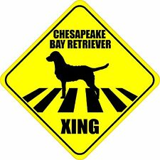 "Chesapeake Bay Retriever Xing Crossing Road Sign 5"" Dog Silhouette Sticker"