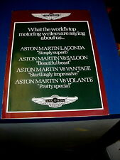 Aston Martin Brochure Original
