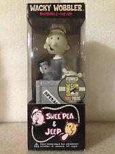 FUNKO POPEYE SWEE PEA & JEEP SDCC 2006 1OF480 WACKY WOBBLER BOBBLE HEAD RARE NEW