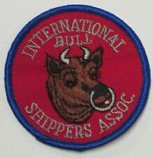 INTERNTIONAL BULL SHIPPERS ASSOC. PATCH 70s VINTAGE RETRO HIPPIE JACKET VEST NEW