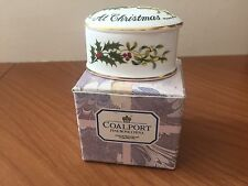 Coalport Fine Bone China, Love & Best Wishes at Christmas Small Oval Trinket Box
