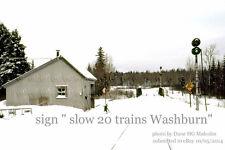 Bangor & Aroostook RR   sign Washburn,  possible Sheridan, Mapleton  Maine
