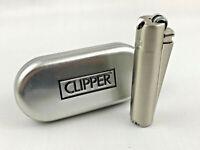 Clipper Pfeifenfeuerzeug Chrome gebürstet Pfeife Feuerzeug Box (ovp)