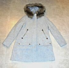 JCrew-Chateau-Parka-Italian-Stadium-Cloth-Wool-Coat-Sz-12P HEATHER-DUSK-365