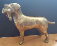 Large Heavy Brass Hunting Gun Dog with Pheasant In Mouth 1,75Kg 13cm x 19cm