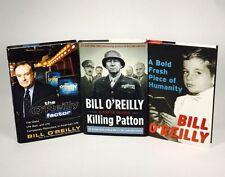 3 Bill O'Reilly Books Killing Patton  O'Reilly Factor A Bold Fresh Lot Of 3 W/dj