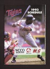 Kirby Puckett--1993 Minnesota Twins Pocket Schedule--Budweiser