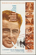 "Poster The James Dean Story 1957 27""x41"" VF James Dean Clark Gable Rock Hudson"