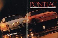 1989 PONTIAC Brochure: Firebird TRANS AM,GTA,GRAND PRIX,AM,6000,BONNEVILLE, '89