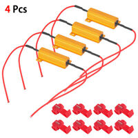 4pc 50W 6OHM Load Resistors to Fix LED Bulb Fast Hyper Flash Flickering Blinking