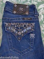 Miss Me Designer Jeans JP4656-2 Embellished Bling Size 27  Boot Cut