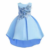 2019 Flower Girl Kids Baby Princess Dress Embroidered Girls Birthday Party Dress