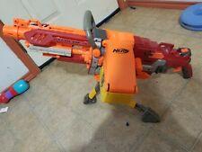 Rare Nerf N Strike Crimson Red Vulcan EBF-25 Blaster Tested