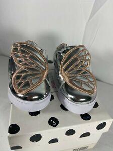 Sophia Webster Bibi Butterfly Low Top Metallic Sneakers Infant sz 4