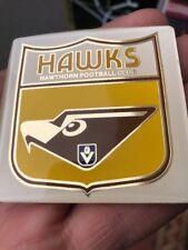RARE HAWTHORN HAWKS CAR BADGE INSERT VFL AFL GREAT CONDITION