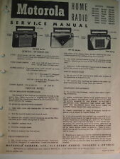 Service Manual Original  Motorola MP-55B1 Home Radio in Canada