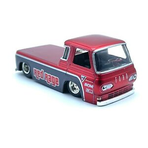 Jada BigTime Muscle 1965 65 Ford Econoline Pick Up Truck Red Rage Die Cast 1/64