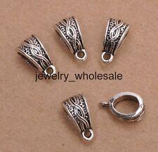 15pcs Tibetan Silver Pendant Bail Bead Connectors Fit Charm Bracelet 14mm A3059