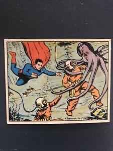 1940 Superman Gum Trading Card #47