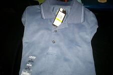 NWT! $38 IZOD S/S GOLF COOL AND DRY POLO SHIRT  UPF 15 PROTECTION- BLUE-MEDIUM
