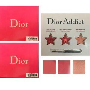 New, Lot of 2, Dior Addict Stellar Shine Lipcard - 3 Colors