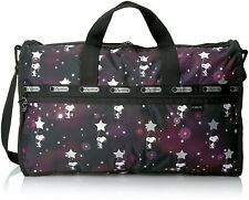 LeSportsac X Peanuts Large Weekender Tote Duffle Bag in Snoopy in the Stars