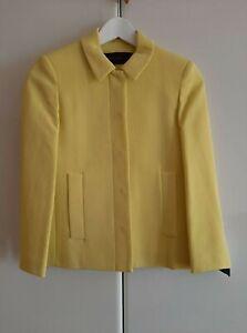 Zara Yellow  Peter Pan Collar Blazer Jacket  SIZE: XS   2202/266