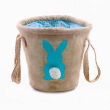 Easter Egg Basket Bag Kids Toddler Bunny Rabbit Burlap Party Boy Gift Candy NEW