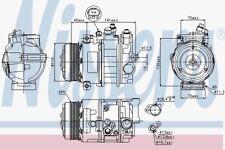Nissens 89039 AC Compressor MERCEDES C-CLASS W203  00-