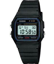 Genuine Casio F91W Classic Retro Black Digital Resin Strap Digital Chrono Watch