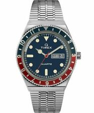 Q Timex Reissue 38mm Stainless Steel Bracelet Watch Brand New In Box Rare Pepsi
