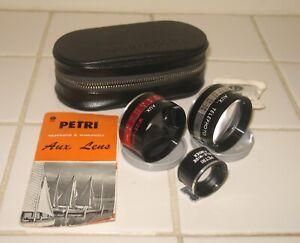 Petri Aux Lens set. Fits Color Corrected Super 2.8 camera.