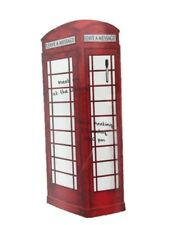 """NEW Wall Pops Dry Erase Message Wall  Decal 26"""" x 39"""" London Telephone Booth Box"""