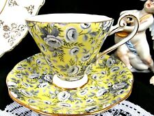 ROYAL STANDARD tea cup and saucer chintz rose pattern yellow teacup flared