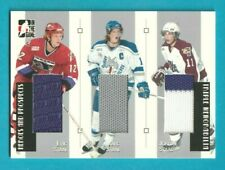 2006-07 ITG Heroes & Prospects ERIC / MARC AND JORDAN STAAL TRIPLE JERSEY /50