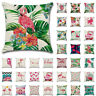"18"" Tropical Plant Cushion Cover Colorful Pillow Case Home Sofa Decor Flamingo"