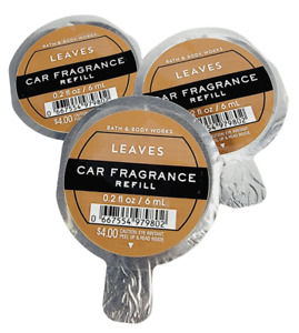 3 Bath and Body Works LEAVES Scentportable Car Fragrance Refills NEW Fast Ship