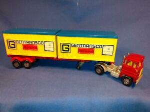 1974 Scammell Tractor Articulated Container Truck, Blue & Yellow Containers F5