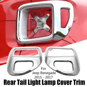 Highitem Latest upgrade Tail Lights Guards Taillights Rear Lamp Light Guard Cover Protector ABS for Jeep Renegade 2014 2015 2016 2017 2018 Black