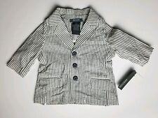 NWT Kenneth Cole Reaction Baby Boy Seersucker Blazer Jacket Striped 12 Mo~J29