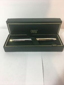 Cross Townsend Rollerball Pen - Medalist Chrome/ Silver and Gold