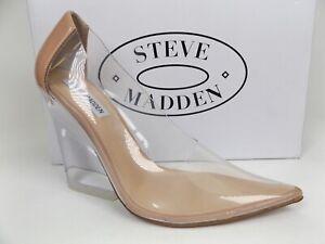Steve Madden Evolution Wedges Clear Pumps Women's Shoes Size 7.5 M, NEW   20441