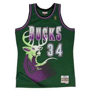 Mitchell & Ness Green NBA Milwaukee Bucks Ray Allen 1996 Alternate Swingman