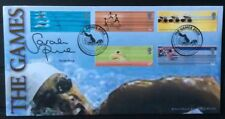 16.7.2002 Manchester Commonwealth Games FDC Signed SARAH PRICE gold Medal winner
