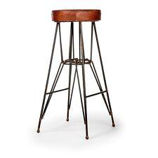 The Rockefeller - Handmade Tall Leather Bar Stool From The Barrel Shack - NEW